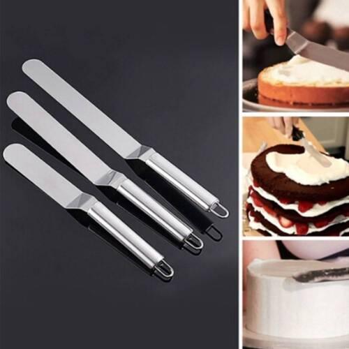 Acier Inoxydable Beurre Gâteau crème Spatule Givrage Glaçage épandeur Pâtisserie Outil