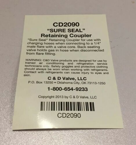 "C /& D 1//4/"" f FLARE 90° CD2090 FLARE /'SURE SEAL/' COUPLER x 1//4/"" m"