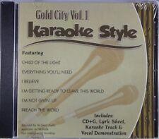 Gold City Volume 1 & 2 Christian Karaoke Style CD G Daywind 12 Songs