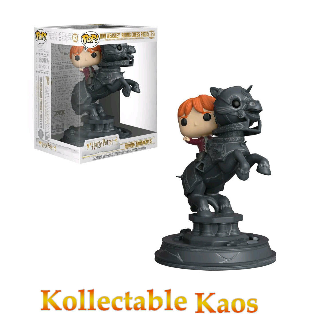 Harry Potter - Ron Weasley Riding Chess Piece Movie Moments Pop  Vinyl
