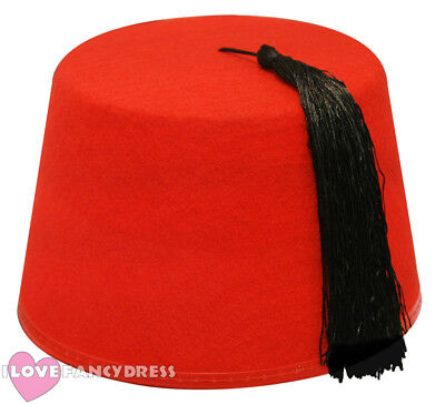 80094b27c0928 10 X Red Fez Hat Moroccan Turkish Tommy Cooper Hats Fancy Dress Costume for  sale online | eBay