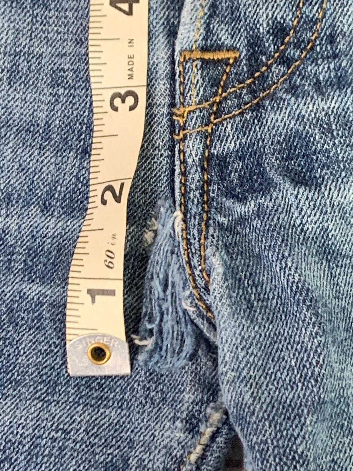 Jeans LEVIS 501 Label Size 34x32 Distressed Blue … - image 6
