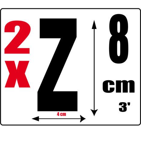 Sticker autocollant noir hauteur 8cm Lettre adhésive en vinyle R lot 2 lettres