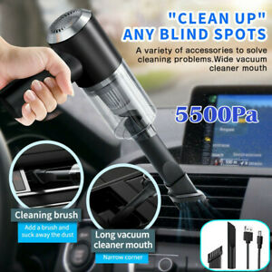 120W 5500PA Cordless Handheld Vacuum Cleaner Rechargeable Car Auto Home Duster