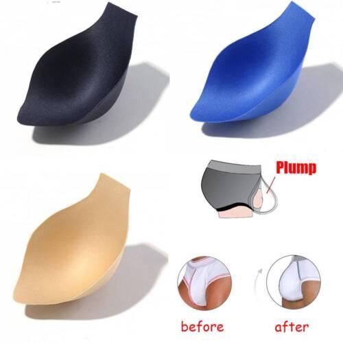 Men/'s Bulge Enhancer Cup Insert For Swimwear Underwear Sponge Pouch Trendy