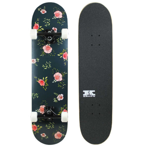 """Pro Skateboard Complete Pre-Built Floral Flowers 7.75/"""" Ready to Ride"""