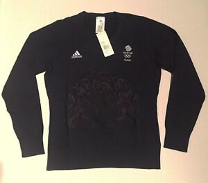 Adidas-Team-GB-Jumper-Sweater-Blue-RIO-2016-Elite-Olympic-Women-Size-XS-S-M-L-XL