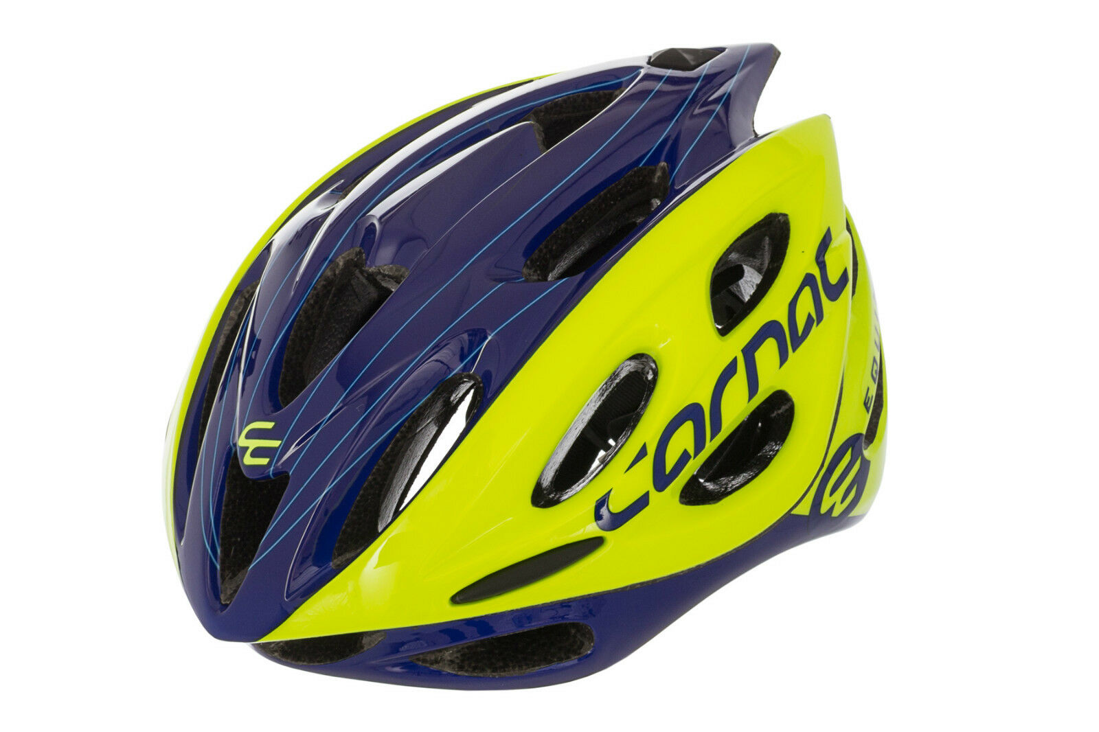 CARNAC PRO ROAD ADULTS LIGHTWEIGHT 24 VENT BIKE IN MOULD HELMET GLOSS GREEN blueE