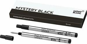 MONTBLANC-Mystery-Black-Packof-2-Medium-Point-LeGrand-Refills-for-162-Rollerball