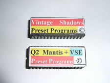 2 x Alesis Quadraverb 2 PRESETS EPROMS VSE & MANTIS + VSE 100 Shadows Copyright.