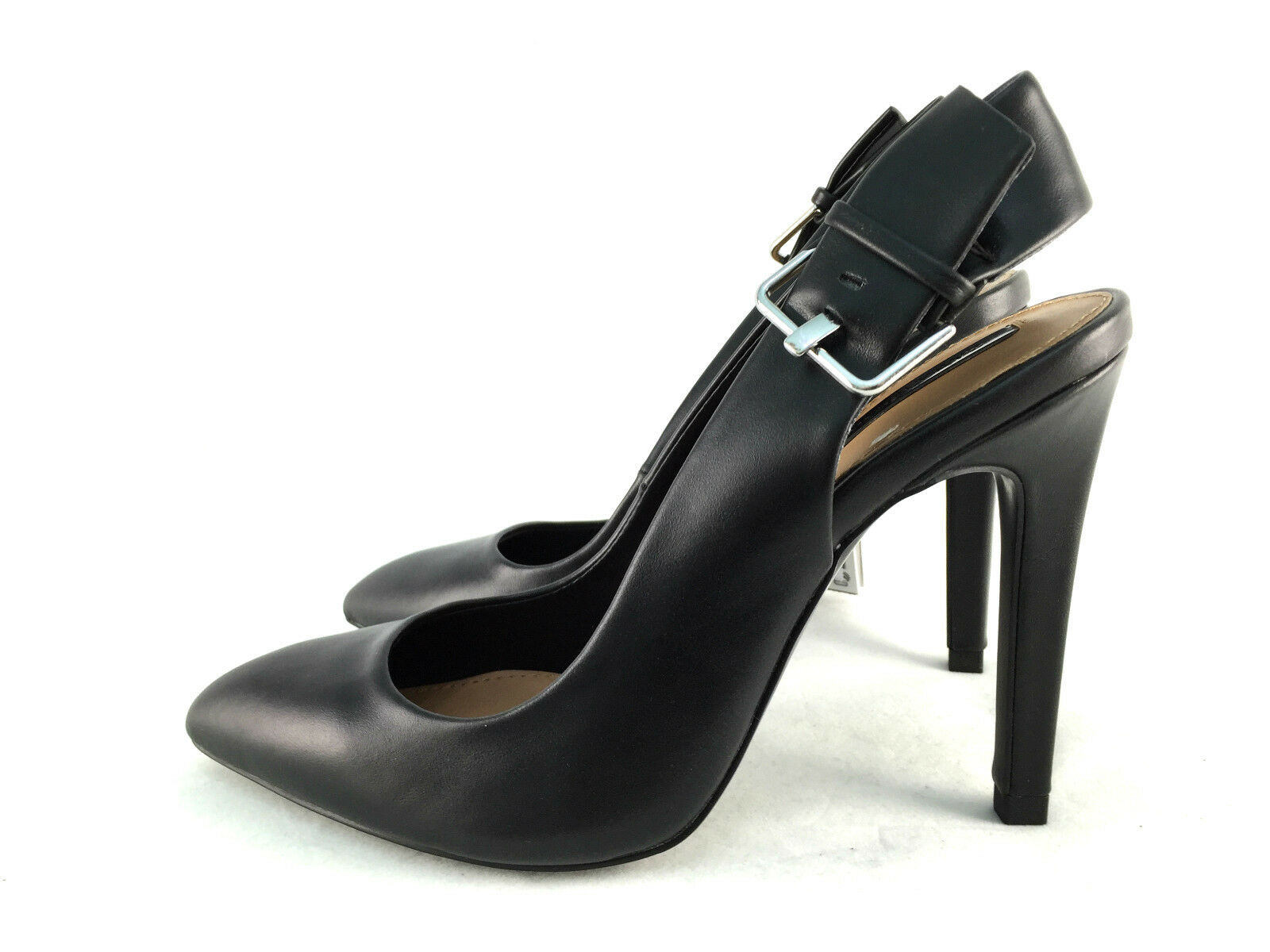 ZARA BLACK HIGH HEEL SLINGBACK Schuhe SIZE UK5/EUR38/US7.5