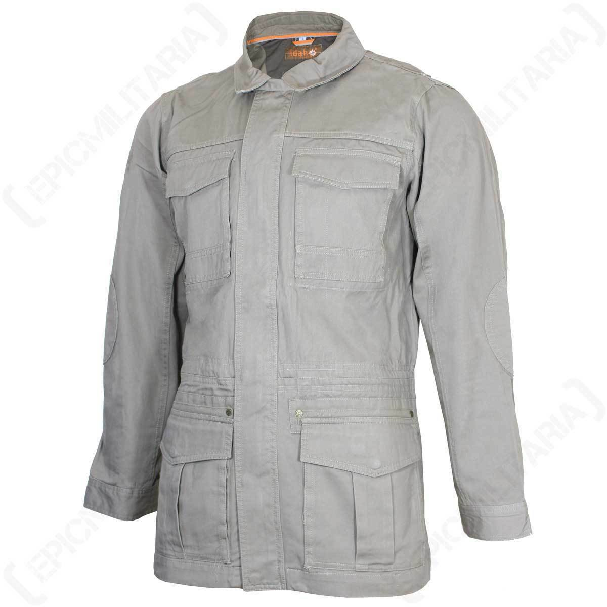 Light Khaki Jacket Top Cotton All Sizes New Percussion Saharienne Cargo Jacket