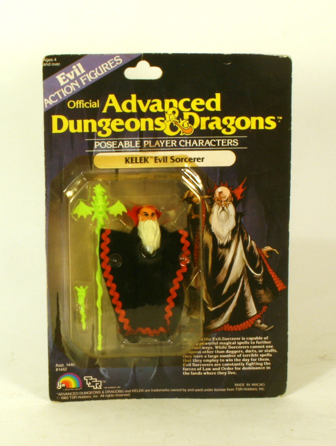 Ljn advanced dungeons and dragons böses actionfiguren kelek böse zauberer moc