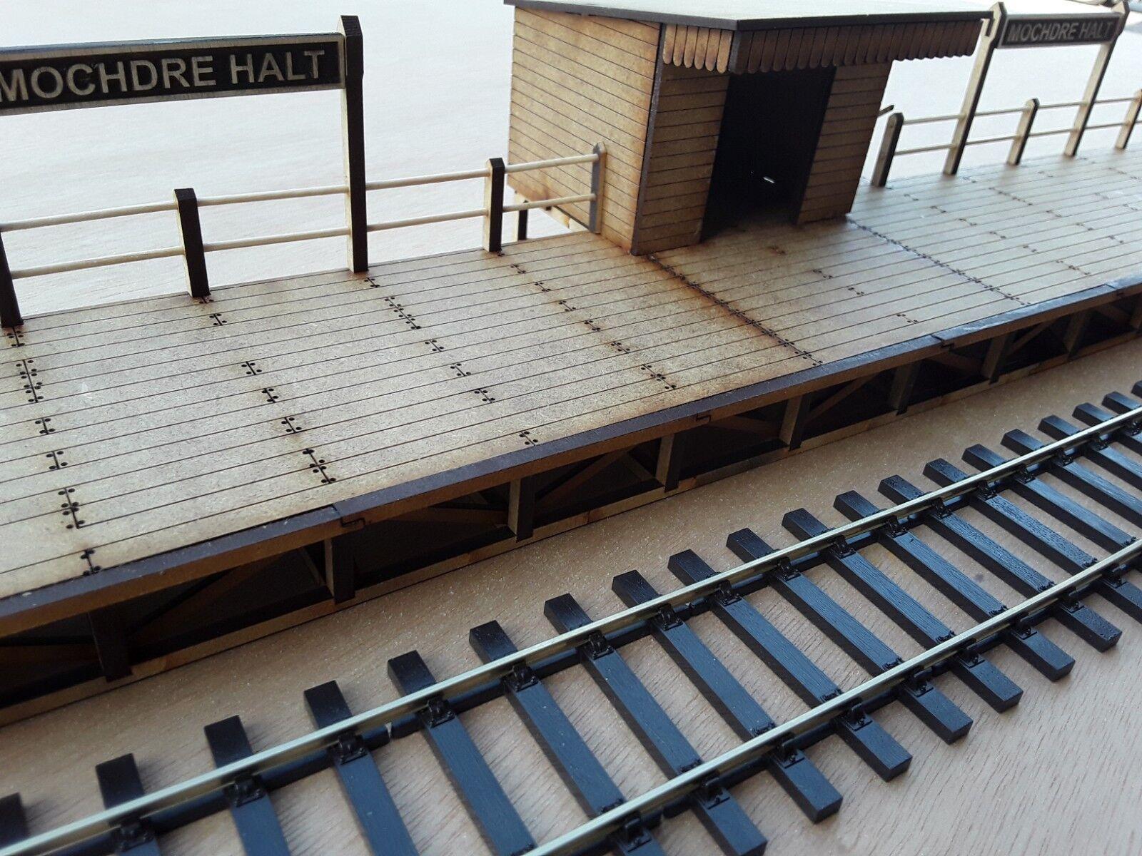 Laser Cut O Gauge Wooden Station Platform and Halt Kit