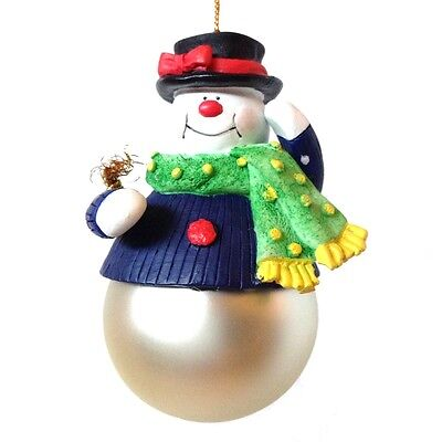 Avon Santa and Company Snowman Christmas Tree Ornament 1997 Collectible w Box