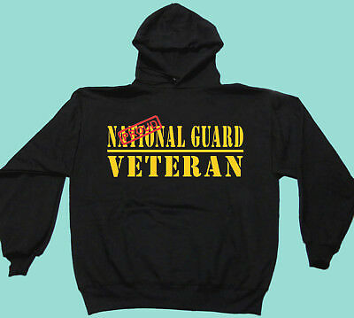 Sweat Shirts Proud Hooded or Crew National Guard Veteran Army Military