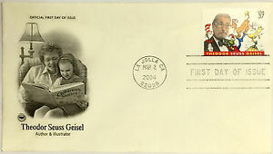 10-USPS-PCS-DR-SEUSS-Geisel-2004-37c-Stamp-FDC-Cover-3835-First-Day-Issue-NEW