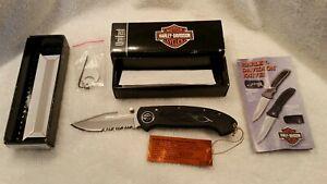 HARLEY-DAVIDSON-Knife-Flaming-Legend-II-Black-Serrated-HD0035BS