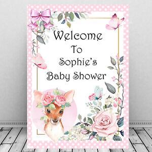 Personalised-Baby-Shower-Welcome-Sign-Print-Mum-To-Be-Keepsake-Cute-Baby-Deer