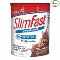 Slim Fast Original, Meal Replacement Shake Mix, Milk Chocolate, 12.83 Oz, 3 Pack on sale