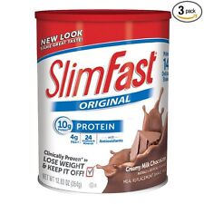Slim Fast Original, Meal Replacement Shake Mix, Milk Chocolate, 12.83 Oz, 3 Pack