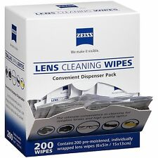 Zeiss Pre-Moistened Lens Cleaning Wipes 200 counts, FREE SHIPPING