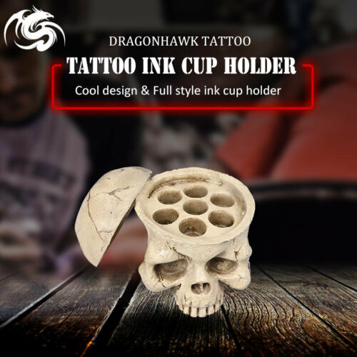 New Premium Cyan Skull Tattoo Ink Cap Cup Holder  | eBay