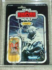 Vintage Star Wars 1980 AFA 75/80/85 YODA ESB 32 Back-B card MOC CLEAR BUBBLE!