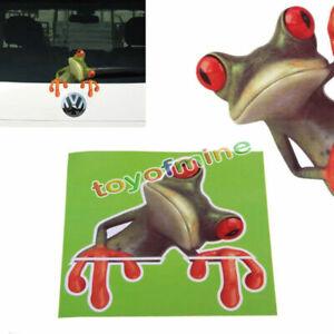 3D-verde-del-pio-rana-divertida-pegatinas-de-coches-Camion-vinilo-de-la-ventana
