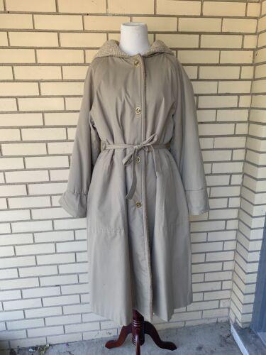 Vintage 70s Bonnie Cashin Long Coat Jacket with H… - image 1