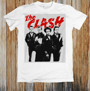 The Clash London Calling White Joe Strummer Official Tee T-Shirt Mens