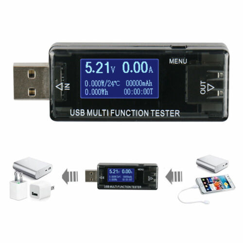 USB MultiFunction Current Voltage Detector Capacity Digital Tester Monitor Meter