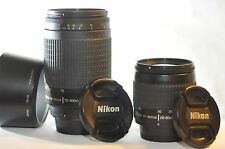 Nikon AF G Nikkor 28-80mm & 70-300mm 2 FX lens SET for D7100 D80 D70 D80 DF D610