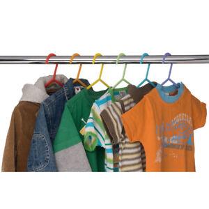 Cintres-pour-enfants-plastique-multicolore-Par-6
