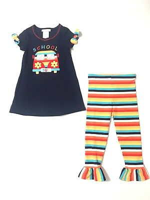 Bonnie Jean Girls Navy Back to School Fall Outfit 2T 3T 4T New