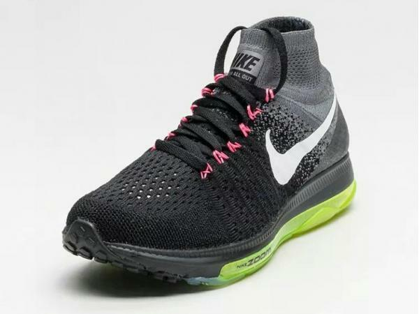 NIKE ZOOM ALL OUT FLYKNIT BLACK WHITE VOLT OREO 844134-002 - SIZE 10.5