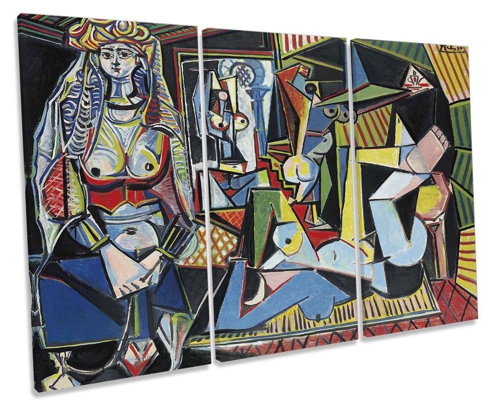 Pablo PICASSO Donne di Algeri foto TREBLE TELA Wall Art Art Art Print a1c635