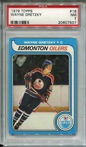 1979 '79 Topps Hockey #18 Wayne Gretzky Rookie Card RC Graded PSA Nr Mint 7