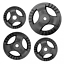 1-20kg-Cast-Iron-Tri-Grip-Weight-Plates-Barbell-Dumbbell-Lifting-Fitness-Workout miniatuur 5