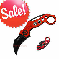 Tac Force Red Karambit Assisted-opening Folding Knife 5.25-inch Below Cost Lk