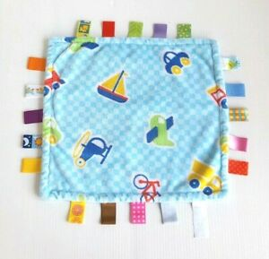 Taggies Cars Helicopters Planes Trains Lovey Security Blankie Blanket