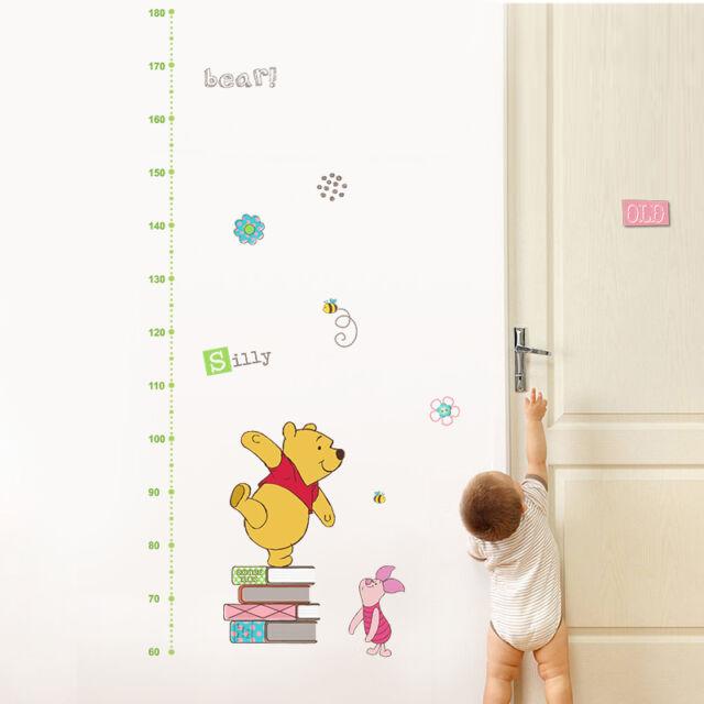 winnie the pooh disney growth height chart wall sticker nursery