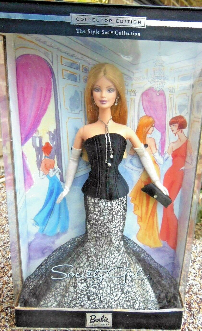 BARBIE SOCIETY GIRL NRFB - new model doll collection Mattel