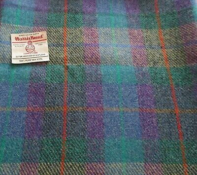 Blue Check from £7.95 plus labels Harris Tweed Cloth Fabric Purple