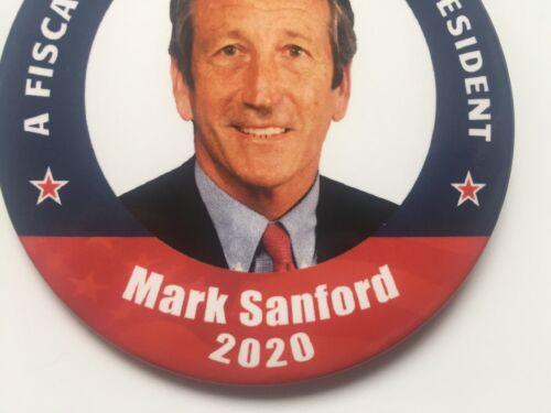"2020 Congressman Mark Sanford 3/"" Button Governor Fiscal Conservative President"