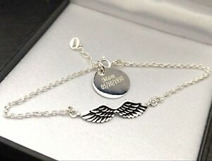 Pendant Bracelet Necklace Gift Christening Love Genuine 925 Silver Angel Charm