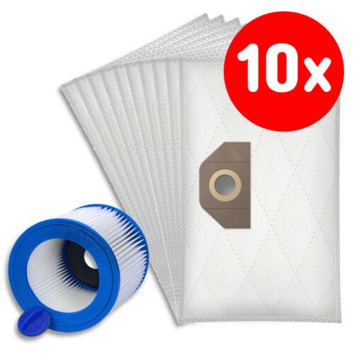 10 Staubsaugerbeutel 1.723-400.0 Patronen-Filter für Karcher A2504 EU