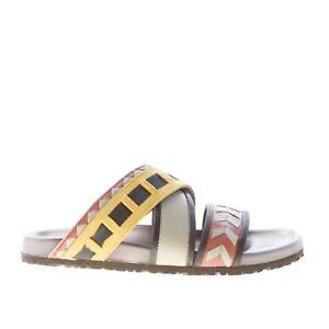 negozio online bellissimo a colori dettagli per Dettagli su MALI'PARMI scarpe donna shoes Sandalo ciabatta a fasce  incrociate multicolore