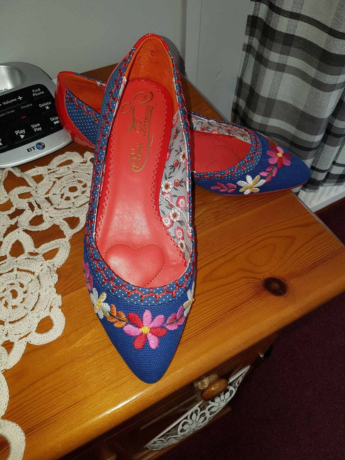 NEW POETIC LICENCE by Irregular Choice'TINY DANCER' floral low kitten heel-39(6)