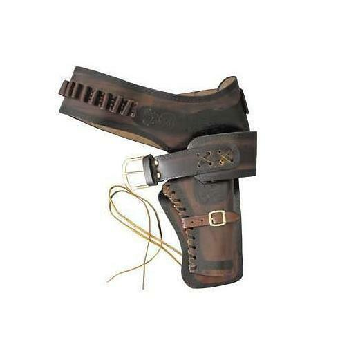 A Single Draw Leather Wild West Holster - Perfect For Re-enactment, Stage & LARP